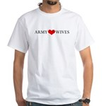 Army Wives Heart and Ring White T-Shirt