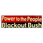 People Power Blackout Bush Bumpersticker