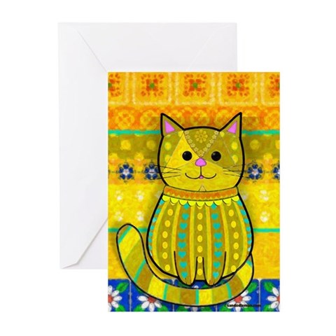 Splendiferous Cat Cat Greeting Cards Pk of 10 by CafePress