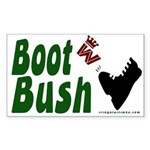 Boot Bush Sticker (Rectangular for Bike)