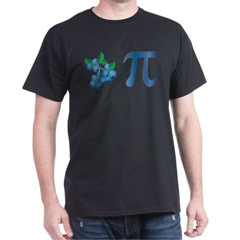 Product Image of Blueberry Pi Black T-Shirt