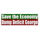 Dump Deficit George Bumper Sticker