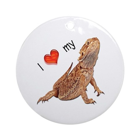 I luv my Bearded Dragon Ornament Round Pets Round Ornament by CafePress