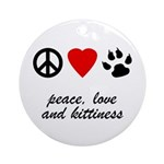 Peace, Love And Kittiness Ornament