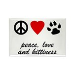 Peace, Love And Kittiness Magnet