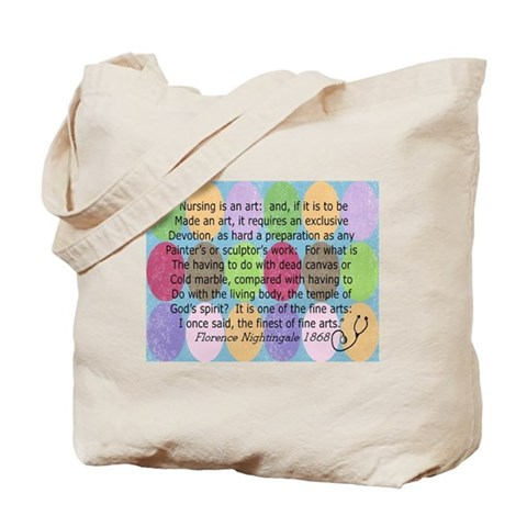 Florence Nightingale Quote Tote Bag