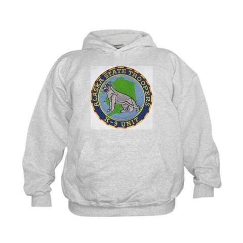 Alaska Trooper K9  Dog Kids Hoodie by CafePress