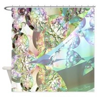 Wings of Angels Amethyst Crystals Shower Curtain