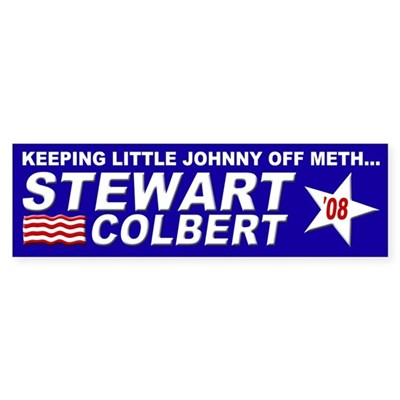 Keeping Little Johnny Off Meth Bumper Sticker