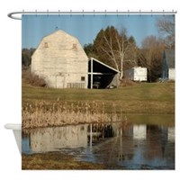 Gray Barn - Reflections of Serenity Shower Curtain