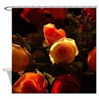 Roses I Orange, Red and Gold Glory Shower Curtain