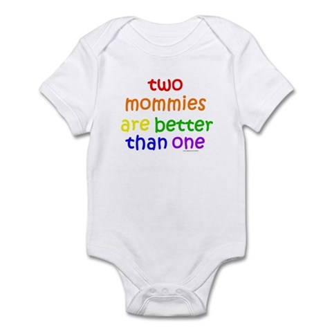 Two Mommies Infant Creeper Lesbian Parents Baby Bodysuit