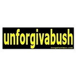 unforgivabush Bumper Sticker