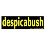 despicabush Bumper Sticker