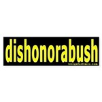 dishonorabush Bumper Sticker
