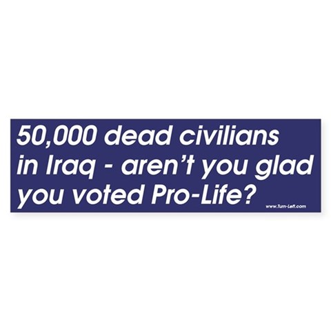 -- aren't you glad you voted Pro-Li Peace Bumper Sticker by CafePress