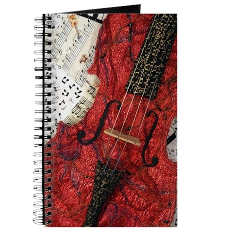 Red Violin  Music Journal by CafePress