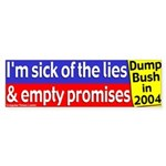 Bush's Lies and Promises Bumper Sticker
