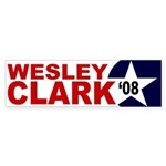 Wesley Clark '08 star bumper sticker