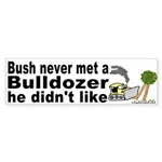 Bush likes Dozers Bumper Sticker