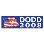 Chris Dodd 2008 (flag bumper sticker)