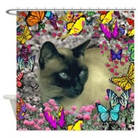 Stella in Butterflies I Shower Curtain