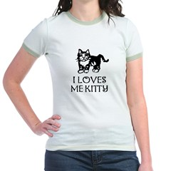 I LOVES ME KITTY! Jr. Ringer T-Shirt