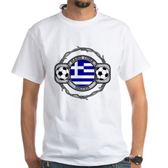 Greek-Soccer White T-Shirt