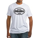 Barack Obama 2008 Oval Fitted T-Shirt