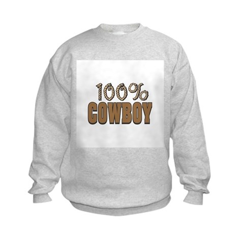 100 Cowboy  Funny Kids Sweatshirt by CafePress