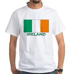 Flag of Ireland White T-Shirt