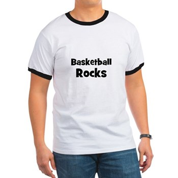 BASKETBALL Rocks Men's Ringer Tee