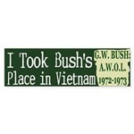 I took Bush's Place Bumper Sticker