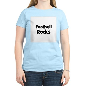 FOOTBALL Rocks Women's Pink T-Shirt