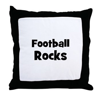 FOOTBALL Rocks Pillow