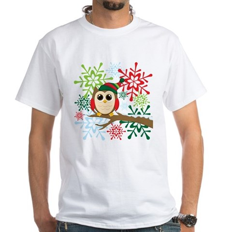 Product Image of Owl Christmas T-Shirt T-Shirt