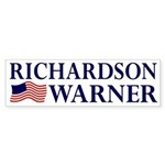 Richardson-Warner 2008 bumper sticker