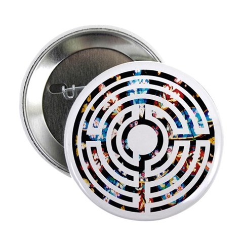 100 Rose Window Labyrinth Buttons Religion 2.25 Button 100 pack by CafePress