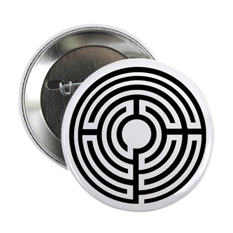 10 Simple Labyrinth Buttons Religion 2.25 Button 10 pack by CafePress