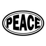 Peace Oval Bumper Sticker