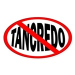 Anti-Tancredo Oval Bumper Sticker