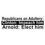 Republicans on Adultery Bumper Sticker