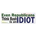 What Republicans Think of Bush Sticker