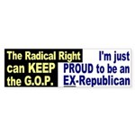 Proud Ex-Republican Bumper Sticker