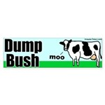 Dump Bush Moo Cow Bumper Sticker