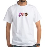 PeaceLoveDogsBumper T-Shirt