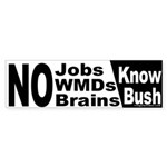 Know Bush Bumper Sticker