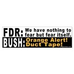 FDR vs. Bush Bumper Sticker