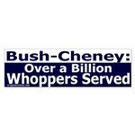 Over a Billion Whoppers Bumper Sticker
