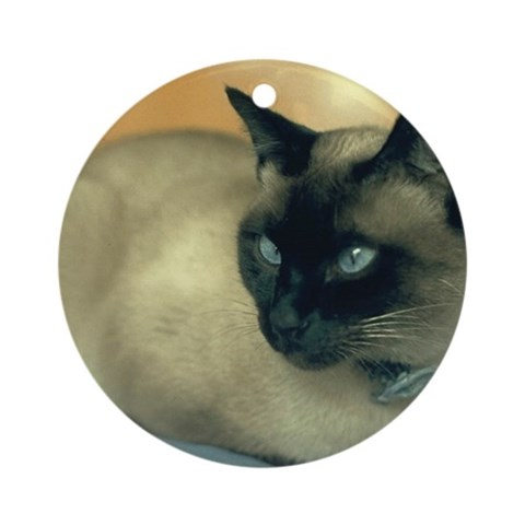 Siamese Cat Ornament Round Pets Round Ornament by CafePress